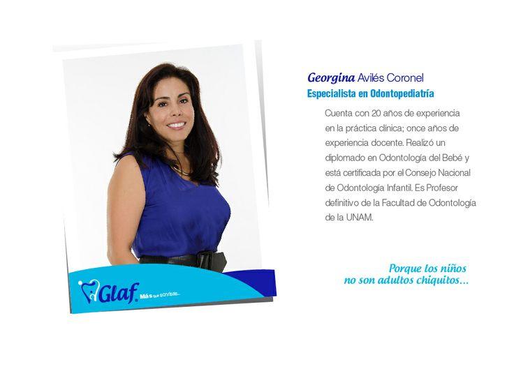 ¡Conoce a nuestros especialistas!  Georgina Avilés Coronel, odontopediatra, dentista, df, niños, familia, mujer, embarazo