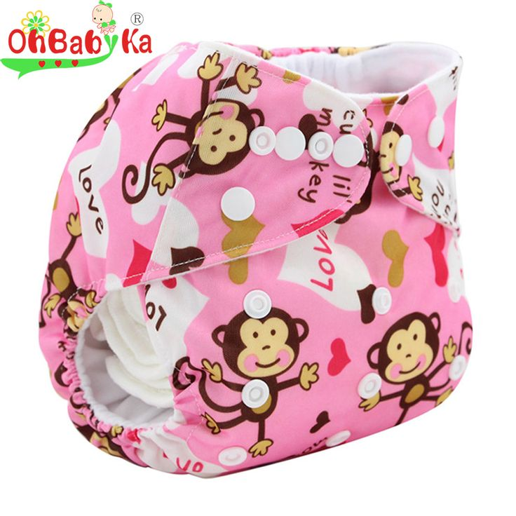 Newborn Nappy Cover Animal Pattern Cloth Diaper Cover Bamboo Velour Washable Design Fitted Reusable Baby Diaper For Good Care