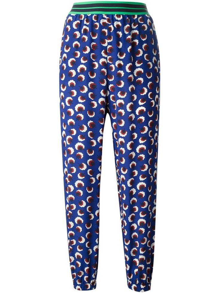 Trousers - Stella McCartney  #stella #mccartney #trousers #pants #stellamccartney #print #blue #style #musthave