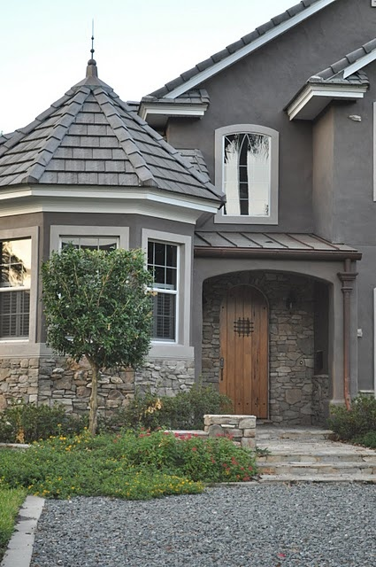 17 best images about exterior paint on pinterest stucco for Gray stone paint color