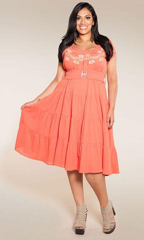 Peasant Style Plus Size Dresses - Long Dresses Online