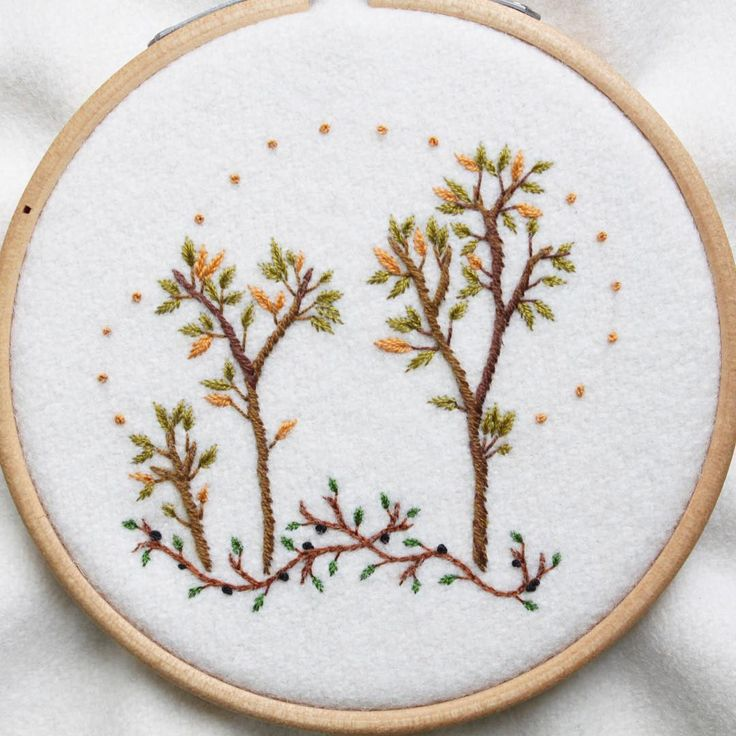 Getting there slowly, feeling more seasonal with some brambles around the bottom ⌛️ #wip #embroidery