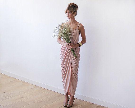 Mother of the Bride SALE Wrap dress Blush pink от BLUSHFASHION