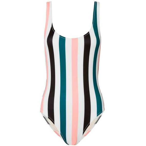 Solid & Striped Women's Anne-Marie Striped Swimsuit ($168) ❤ liked on Polyvore featuring swimwear, one-piece swimsuits, stripe, tank bathing suits, scoop neck bathing suit, swim suits, swimsuit swimwear and scoop neck swimsuit