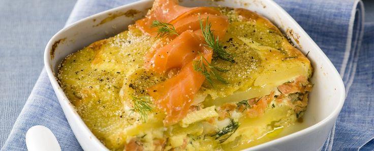 Sformato tipico della cucina svedese, lax pudding con salmone affumicato e aneto Sale&Pepe