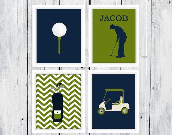 Golf Themed Decor - Boy - Custom Colors - Golf Nursery Decor on Etsy, $20.00