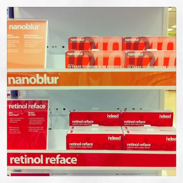 retinol reface now available at Shoppers Drug Mart Canada wide and Boots UK wide!   Re-stock you're nanoblur while your checking out retinol reface.