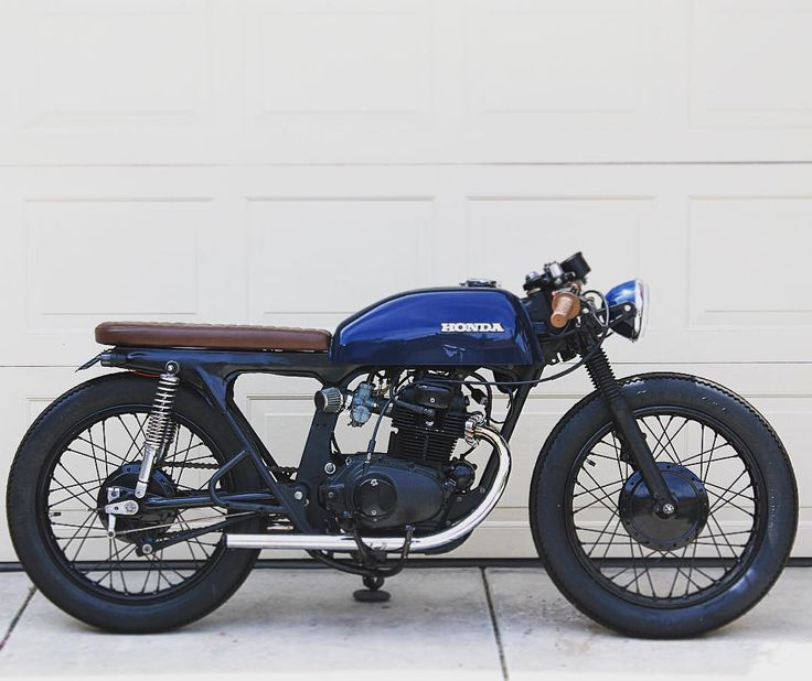 The latest #TherapyGarage build is a 1974 #Honda #CL200 that belongs to…