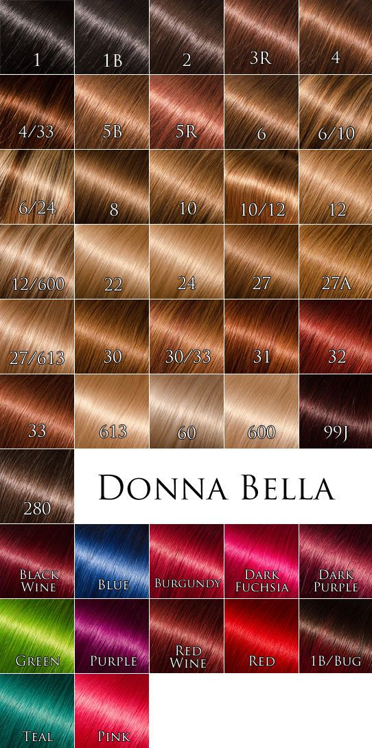 Donna Bella Color Chart at Vision Hair Extensions