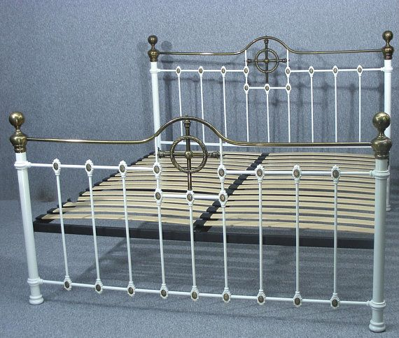 Super King Size Bed Antique Bed Victorian Style Bed White Bed