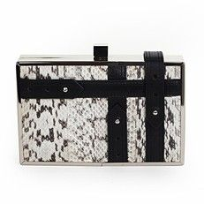 Ziibi cinture clutch in salt and pepper  Palethorp