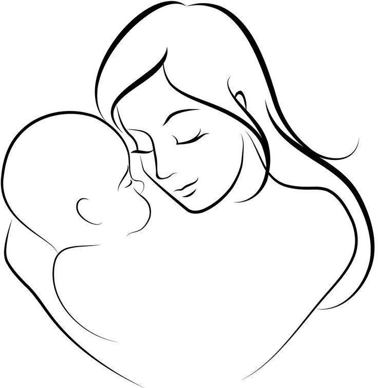 Эскизы картинки мама