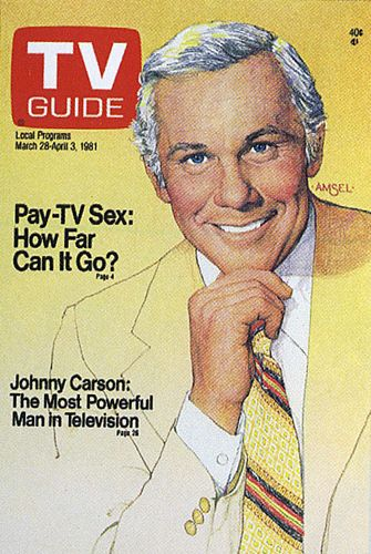 Richard Amsel's TV Guide Cover #20: Johnny Carson, March 28, 1981