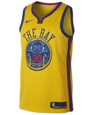 adidas Men's Stephen Curry Golden State Warriors City Swingman Jersey - Gold XXL