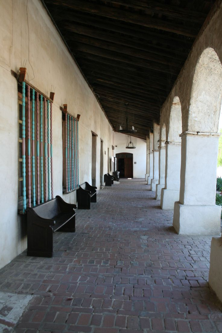 Front portico San Miguel Arcangel Mission.