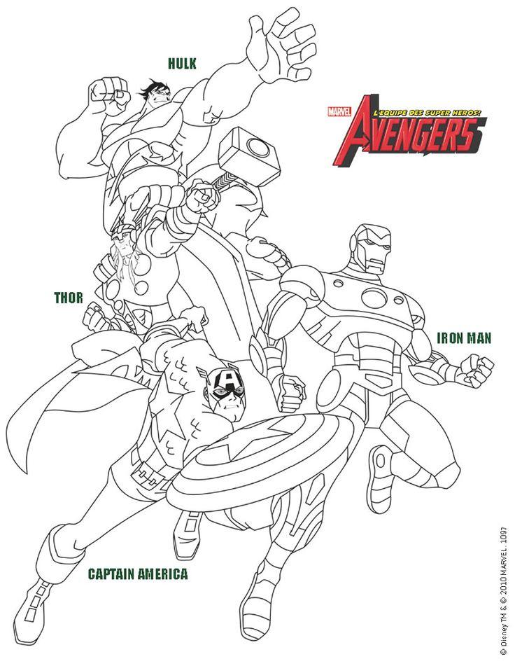 Coloriage Les Avengers A Colorier