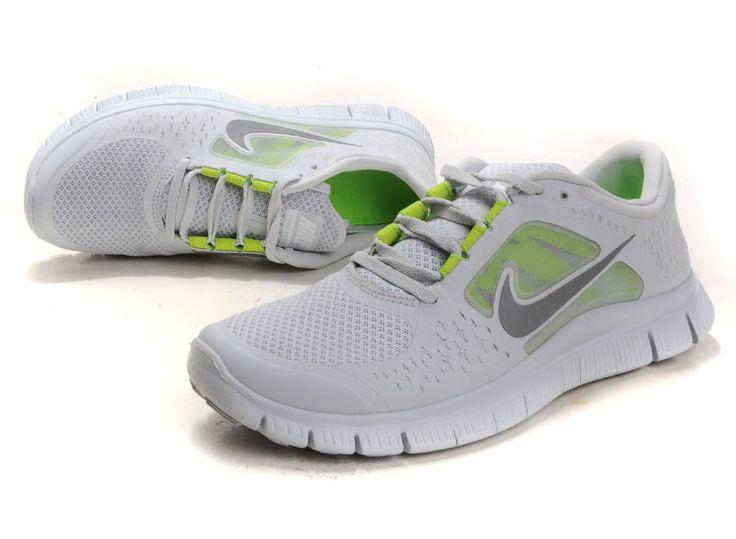 Cheap Mens Nike Free Run 3 white grey $79.00