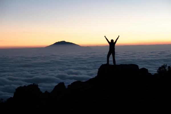 Fundraiser Amy Bartlett is on top of the world with LIVESTRONG at the Survivor Summit expedition to Mt. Kilimanjaro. #LIVESTRONG: Fundraisers Amy, Fundrai Amy, Cloud, Kilimanjaro, Great View, The World