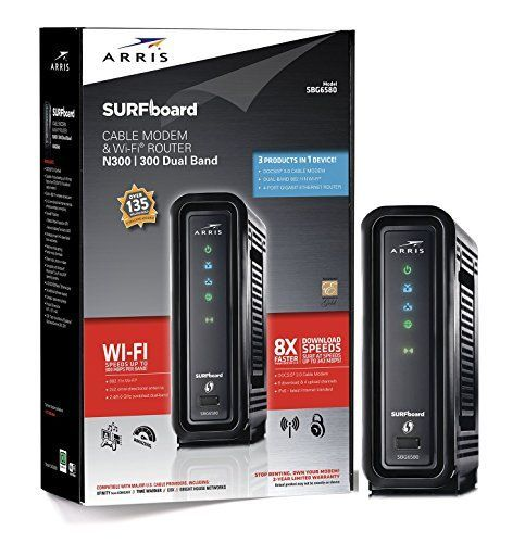 3 products in 1:  Modem, N300/N300 Dual band WiFi and 4 Port Gigabit Router * Requires Cable Internet Service.  Approved on Comcast Xfinity, Charter, Time Warner, Brighthouse Networks, Cox, Mediacom and almost all Regional Cable Internet Providers for plans up to 100 Mbps.  Not compatible with Verizon, ATT or Centurylink. * Docsis 3.0 Modem with 8 DOWNLOAD and 4 UPLOAD Channels capable of 343 Mbps download and 131 Mbps. * (Placed within the Amazon Associates program) * 10:45 Mar 7 2017