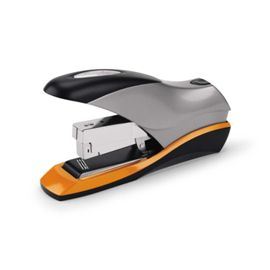 Swingline Optima High Capacity Stapler - Item # S7087875 - High performance you can count on. Easily staples as few as 2 or as many as 70 sheets. Jam Free when used with the Optima High Capacity Staples. Ergonomic design requires 50% less effort to use. Flat clinch stapling design allows neater stacking and filing of stapled papers.