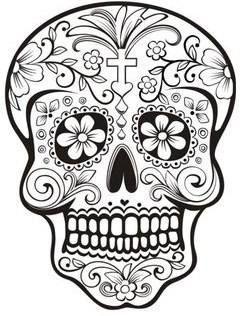 Resultado De Imagen Para Dibujo Bordado Calavera Flores Mexicano