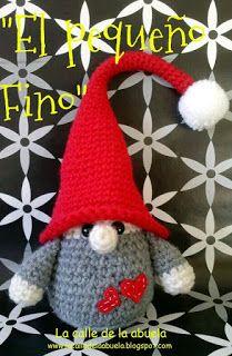 "A little gnome/ troll in Spanish. This pattern is free on ""La Calle de la Abuela"""