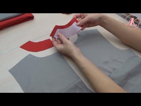 Обработка платья подкладкой. Как притачать подкладку к потайной застежке-молнии…