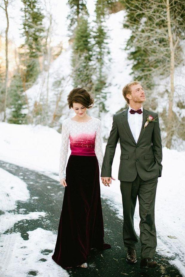 Style Crush: Dip Dye Wedding Dresses + DIY Instructions