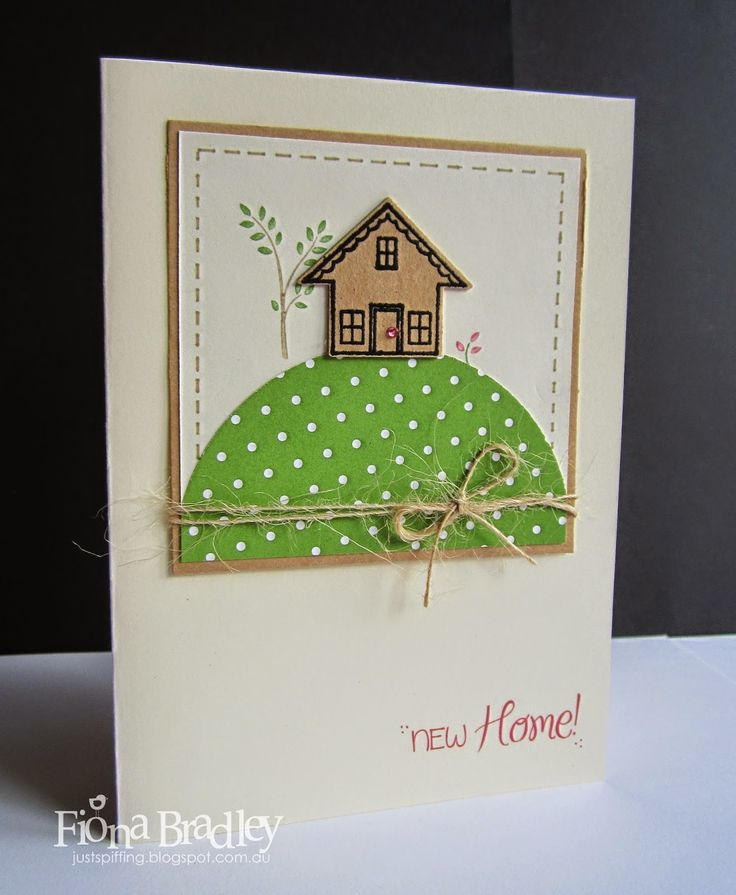 New home - Stampin Up - You Brighten My Day stamp set - Just Spiffing by Fiona Bradley