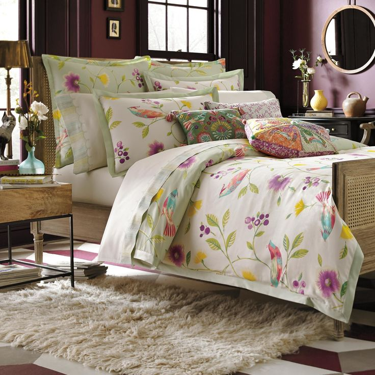 Duvet Cover Set With Birds Flower Leaves Available On