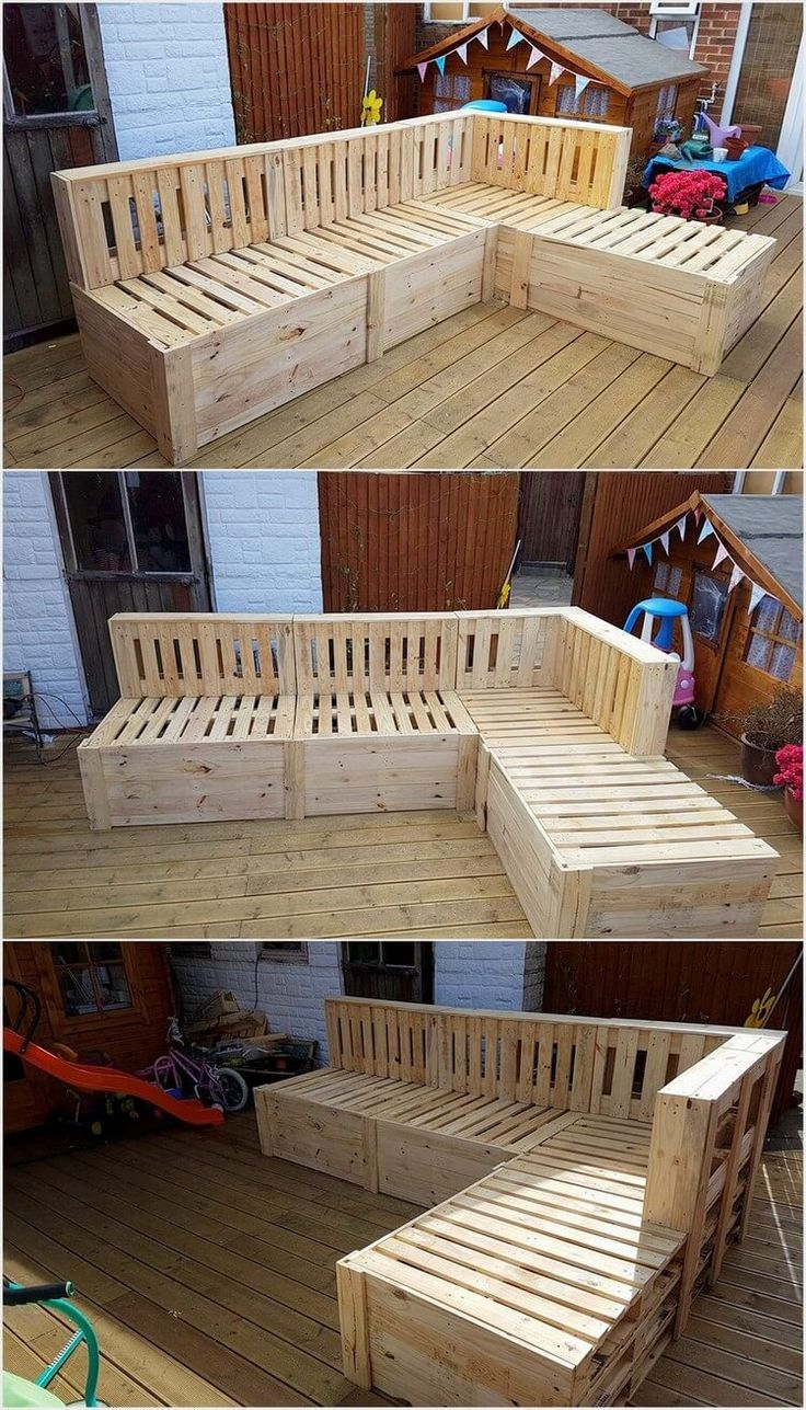 Besides setting your garden with the sitting sofas, you can arrange a comfortable setting of placing a wood pallet beautifully designed couch set for your garden. Such couch sets are much in demand as they are best for arranging large family gatherings.