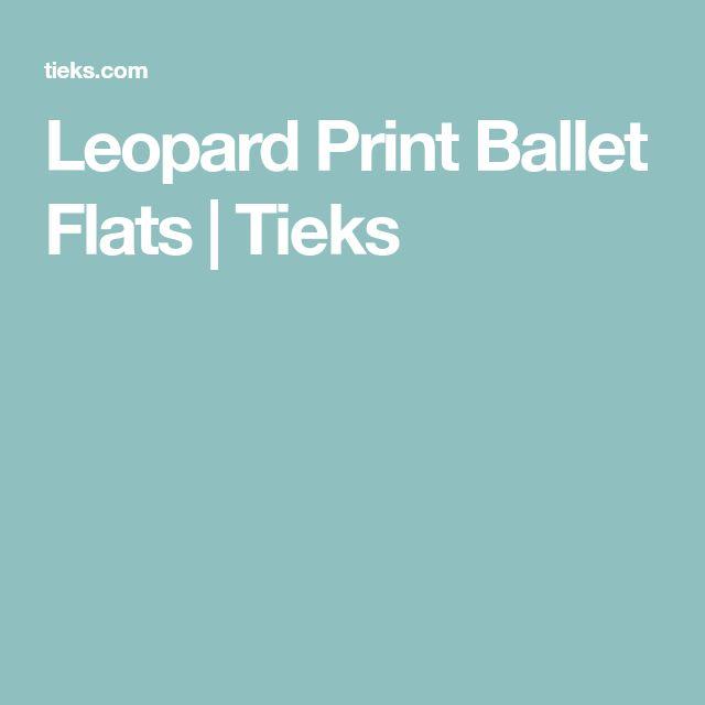 Leopard Print Ballet Flats | Tieks
