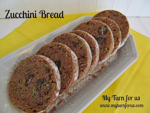 My Turn for us: Aunt Betty's Zucchini Bread