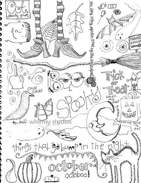 zentangle Halloween designs- I LOVE Halloween time... I'm going to have to do something like this then