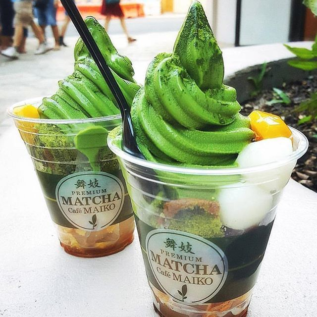 : Matcha softserve  : Matcha Cafe Maiko  : @saranghae_nn  : Like what you SEE?!  FOLLOW @matchafeels for more delicious matcha content!  : &Don't forget to use hashtag #matchafeels to share your matcha finds!