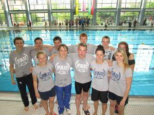 Die schwimmenden Studentender FAU waren bei DHM in Magdeburg erflogreich.
