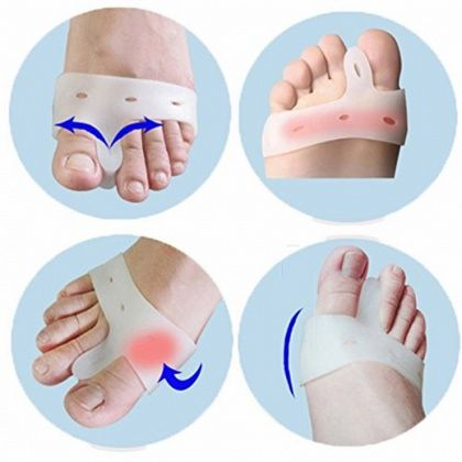 Separador e corrector de dedos dos pés (par)
