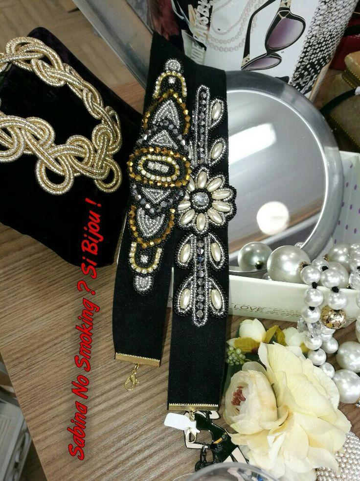 Girocolli oro e nero vintage style Vetrina #sabinanosmokingsibijou