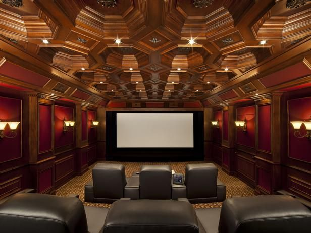this elegant home theater is located inside a four car garage dream homes pinterest car. Black Bedroom Furniture Sets. Home Design Ideas