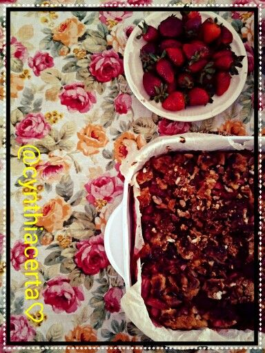 "Strawberry ""croissant"" puff,@cynthiacerta"