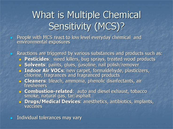 Sensibilità chimica multipla e raccolte fondi