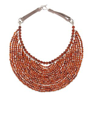 Brunello Cucinelli necklace - hessonite