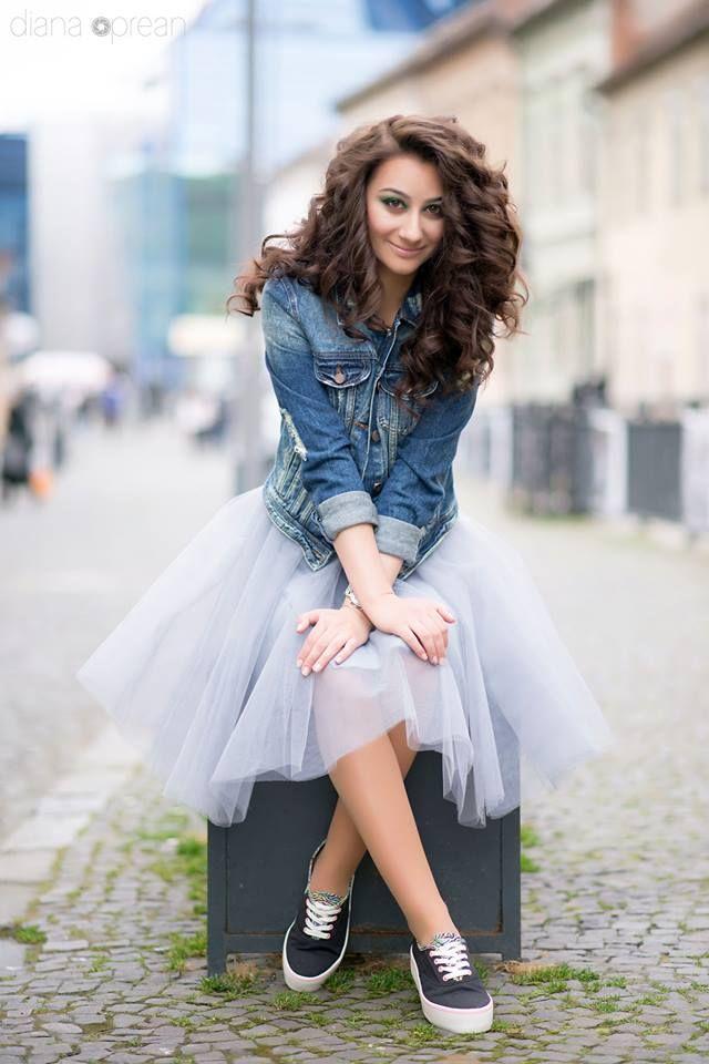 Grey Tulle Skirt by Ana's Crafty Corner https://www.facebook.com/Anascraftycorner