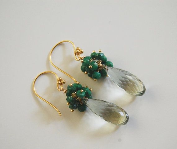May Birthstone Jewelry Green Amethyst and by ferozasjewelry