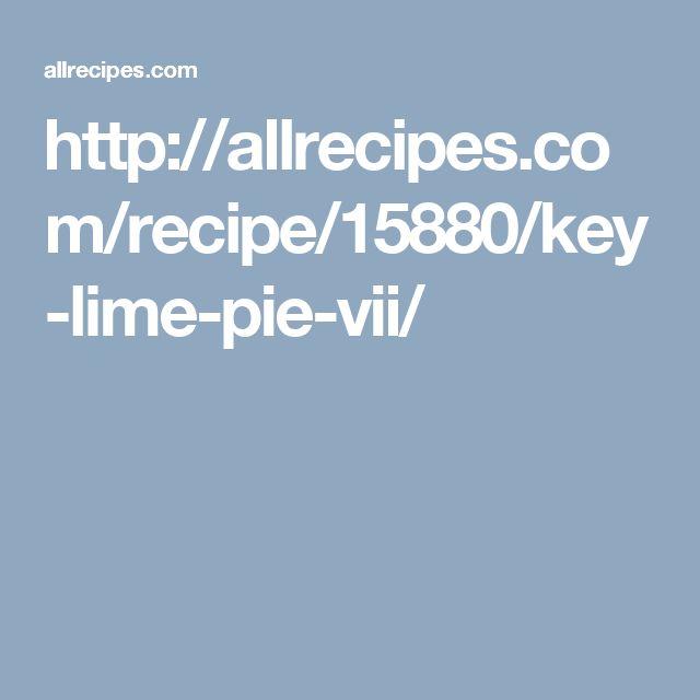 http://allrecipes.com/recipe/15880/key-lime-pie-vii/