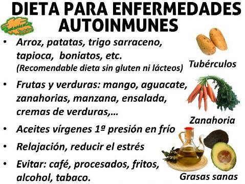 dieta alimentos recomendados buenos en enfermedades autoinmunes como lupus, esclerosis multiple, reuma artritis hashimoto