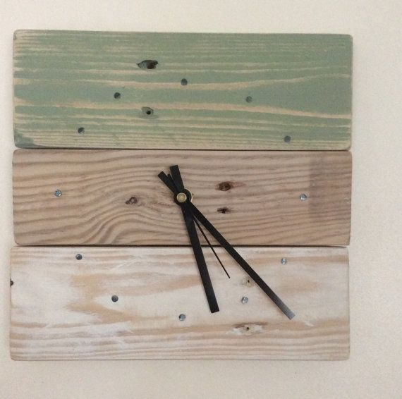 Wall Clock Reclaimed Wood Clock Wooden by SpudsCreativeAsylum