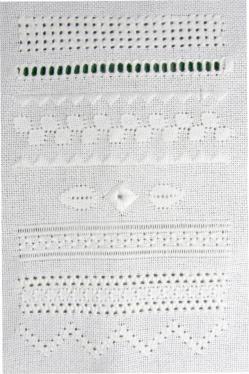 Pulled thread work - sampler band 3