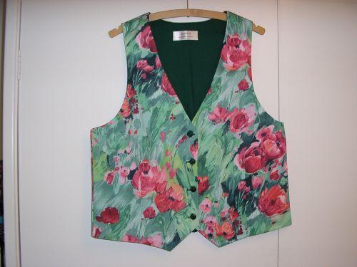"Monet Poppies Ladies Waistcoat 12-14 (34"" - 36"")  from Jacaranda"
