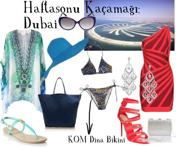 Dubai nights deserves body-con and it's beaches deserve snake print. / Dubai geceleri vücudu saran elbiseler, plajları ise yılan desenini hakeder.